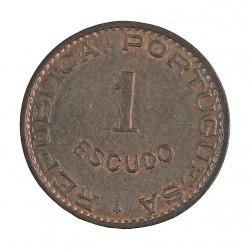 Cabo Verde 1  Escudos. 1968. AE. 8gr. Ø26mm. SC. (Casi todo su tono original). KM. 8