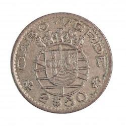 Cabo Verde 2,5  Escudos. 1953. CUNI. 3,5gr. Ø20mm. MBC-. KM. 9