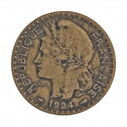 Camerun 1 Francos. 1924. (a)-Paris. AL+AE. 5gr. (Administración Francesa). Ø23mm. MBC-. KM. 2