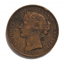 Canada 1 Penny. 1856. (NUEVA ESCOCIA). CU. 15gr. (Token). Ø33mm. MBC-/MBC. MUY ESCASO/A. KM. 6
