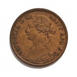 Canada ½ Cent. 1861. (NUEVA ESCOCIA). CU. 2,8gr. Ø20mm. EBC+/SC-. (Insig.gpcto cto..Patina). MUY ESCASO/A. asi. KM. 7