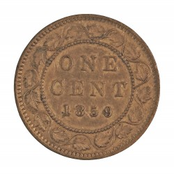 Canada 1 Cent. 1859. AE. 5,6gr. Ø25mm. MBC/MBC+. KM. 1