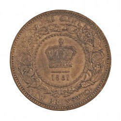 Canada 1 Cent. 1861. (NEW BRUNSWICK). AE. 5,6gr. Ø25mm. SC-/EBC+. (Patina). KM. 6