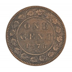 Canada 1 Cent. 1876. Heaton. AE. 5,6gr. Ø25mm. MBC+. KM. 7