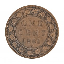 Canada 1 Cent. 1881. Heaton. AE. 5,6gr. Ø25mm. MBC-. KM. 7