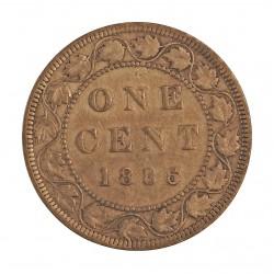 Canada 1 Cent. 1886. AE. 5,6gr. Ø25mm. MBC-/MBC. KM. 7