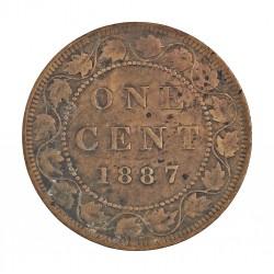 Canada 1 Cent. 1887. AE. 5,6gr. Ø25mm. BC+/MBC-. KM. 7
