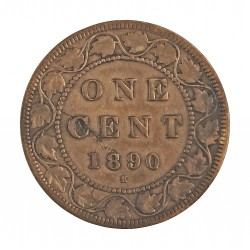 Canada 1 Cent. 1890. Heaton. AE. 5,6gr. Ø25mm. BC+/MBC-. KM. 7