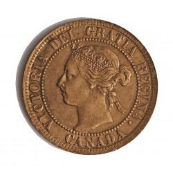 Canada 1 Cent. 1895. AE. 5,6gr. Ø25mm. SC-/SC. (Gran parte de su tono original). KM. 7