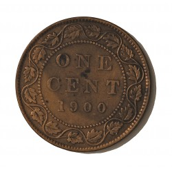 Canada 1 Cent. 1900. AE. 5,6gr. Ø25mm. MBC. KM. 7