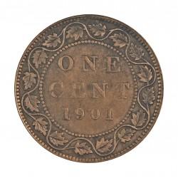 Canada 1 Cent. 1901. AE. 5,7gr. Ø25mm. MBC-. KM. 7