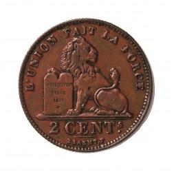 Belgica 2  Cts.  1911. CU. 3,96gr. (Des Belges). Ø21mm. MBC/MBC+. RARO/A. KM. 64