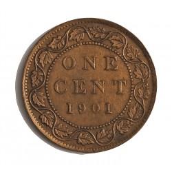 Canada 1 Cent. 1901. AE. 5,7gr. Ø25mm. EBC/EBC+. KM. 7