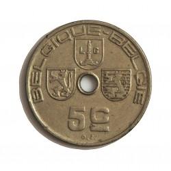 Belgica 5  Cts.  1938. CUNI. 2,47gr. (Belgique-Belgie). Ø19mm. MBC+. KM. 110.1