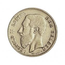 Belgica 50  Cts.  1898. AG. 2,5gr. (Der Belgen). Ø18mm. MBC+. KM. 27