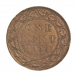 Canada 1 Cent. 1904. AE. 5,6gr. Ø25mm. MBC/MBC+. KM. 8