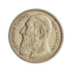 Belgica 50  Cts.  1907. AG. 2,5gr. Ley:0,835. (Der Bergen). Ø18mm. EBC+/SC-. KM. 60.2