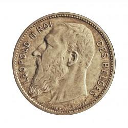 Belgica 1  Francos. 1904. AG. 5gr. Ley:0,835. (Des Belges). Ø23mm. MBC/MBC+. KM. 56.1