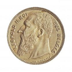 Belgica 1  Francos. 1909. AG. 5gr. Ley:0,835. (Des Belges). Ø23mm. EBC+/SC-. KM. 56.1