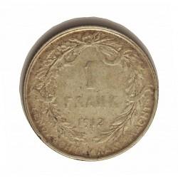 Belgica 1  Francos. 1912. AG. 5gr. Ley:0,835. (Der Belgen). Ø22mm. MBC+. KM. 73.1