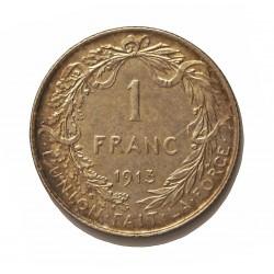 Belgica 1  Francos. 1913. AG. 5gr. Ley:0,835. (Des Belges). Ø22mm. EBC-. KM. 72.1