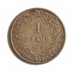 Belgica 1  Francos. 1914. AG. 5gr. Ley:0,835. (Des Belges). Ø22mm. MBC-/MBC. KM. 72.1