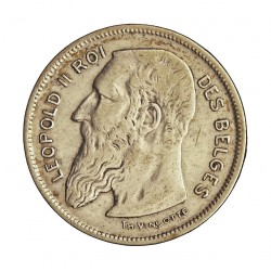 Belgica 2  Francos. 1904. AG. 10gr. Ley:0,835. (Des Belges). Ø27mm. MBC+/EBC-. KM. 58.1