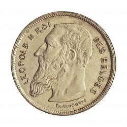 Belgica 2  Francos. 1909. AG. 10gr. Ley:0,835. (Des Belges). Ø27mm. EBC+/SC-. KM. 58.1