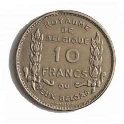 Belgica 10  Francos. 1930. CUNI. 17,4gr. (Belgique). Ø34mm. MBC. RARO/A. KM. 99