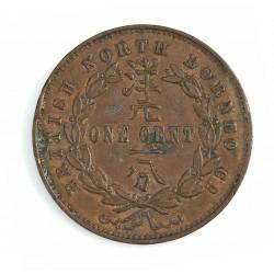 Borneo del Norte-(Britanico) 1 Cent. 1882. CU. 9,4gr. Ø29mm. EBC-/MBC+. (Gpcito.Patina oscura). KM. 2