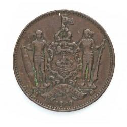 Borneo del Norte-(Britanico) 1 Cent. 1889. CU. 9,4gr. Ø29mm. MBC-. (Patina oscura). KM. 2