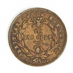 Borneo del Norte-(Britanico) 1 Cent. 1894. CU. 9,4gr. Ø29mm. MBC+. (Lev.limpiada). RARO/A. KM. 2