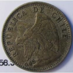 Chile 10 Ctvo. 1916. Santiago de Chile. AG. 1,5gr. Ley:0,450. Ø17mm. EBC-/EBC. KM. 156.3