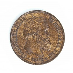 Brasil 10 Reis. 1869. AE. 3,5gr. Ø20mm. MBC/MBC+. KM. 473