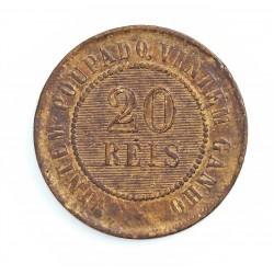 Brasil 20 Reis. 1899. AE. 7gr. Ø25mm. MBC-. KM. 490