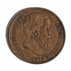 Brasil 40 Reis. 1875. AE. 12gr. Ø30mm. MBC+/EBC-. (Finas marquitas). KM. 479