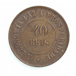 Brasil 40 Reis. 1909. AE. 12gr. Ø30mm. MBC+. KM. 491
