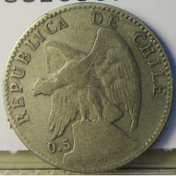 Chile 20 Ctvo. 1907. Santiago de Chile. AG. 3gr. Ley:0,400. Ø21mm. MBC-/MBC. KM. 151.3