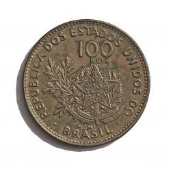 Brasil 100 Reis. 1901. (15 de Nvbre.). CUNI. 5gr. Ø21mm. SC-/SC. (Tono). KM. 503