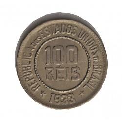 Brasil 100 Reis. 1933. CUNI. 4,95gr. Ø20,5mm. SC-/SC. KM. 518