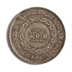 Brasil 500 Reis. 1858. AG. 6,375gr. Ley:0,917. Ø26mm. EBC. KM. 464