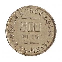 Brasil 500 Reis. 1906. AG. 5gr. Ley:0,900. Ø21,50mm. EBC-. KM. 506