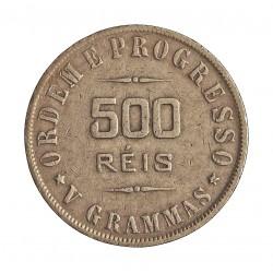 Brasil 500 Reis. 1907. AG. 5gr. Ley:0,900. Ø21,50mm. MBC. KM. 506