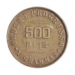 Brasil 500 Reis. 1908. AG. 5gr. Ley:0,900. Ø21,50mm. MBC+. KM. 506