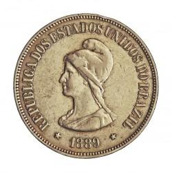 Brasil 1000 Reis. 1889. AG. 10gr. Ley:0,900. Ø30mm. MBC+. KM. 495