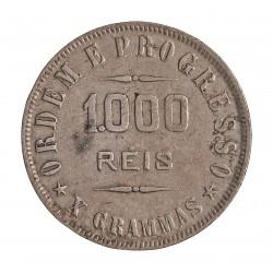 Brasil 1000 Reis. 1906. AG. 10gr. Ley:0,900. Ø26mm. MBC. KM. 507