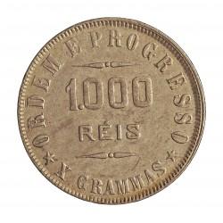 Brasil 1000 Reis. 1908. AG. 10gr. Ley:0,900. Ø26mm. MBC/MBC+. KM. 507
