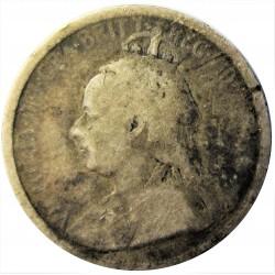 Chipre 3  Piastras. 1901. AG. 1,885gr. Ley:0,925. Ø17mm. RC-. RARO/A. KM. 4