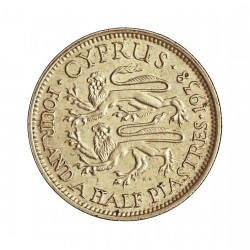 Chipre 4,5  Piastras. 1938. AG. 2,828gr. Ley:0,925. Ø19mm. EBC+/SC-. KM. 24