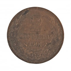 Bulgaria 2 Stotinki. 1901. AE. 2gr. Ø20mm. MBC-. KM. 23.1